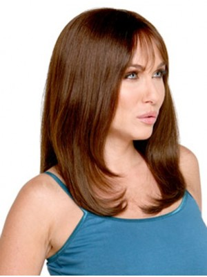 Buy Straight Remy Human Hair With Bangs Wig