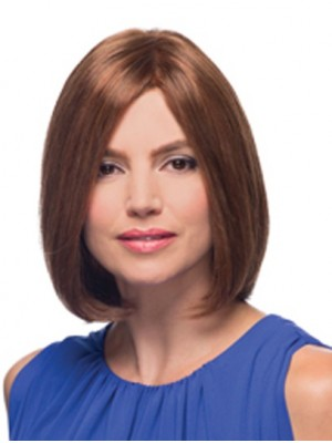 Cheap 100% Hand-Tied Chin Length Straight Wigs