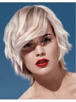 Beach Hair Capless Short Wavy Wigs