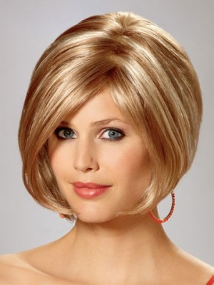 Short Silky Straight Bob Wig