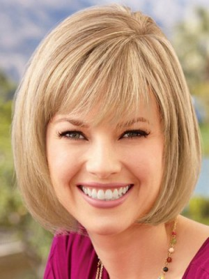 Mid-length Synthetic Lace Front Bob Wig