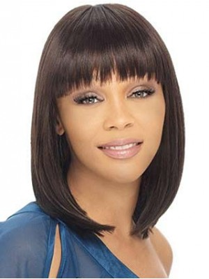Classic BOB Style Full Bang African American Wigs