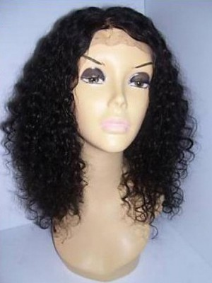 Lace Front Curly Human Hair Wig For Woman