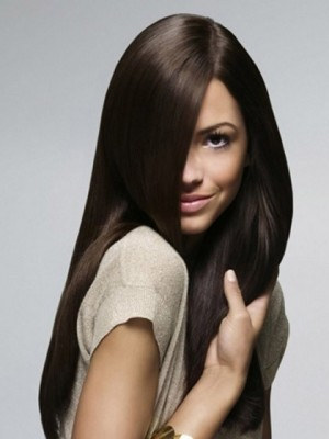 Full Lace Heat Friendly Synthetic Straight Wig For Woman