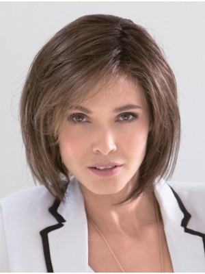 Cheap Brown Capless Lace Front Bob Wigs