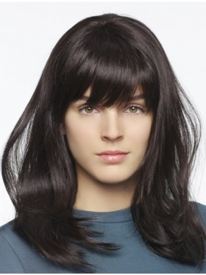 Black Straight Long Good Lace Front Wigs