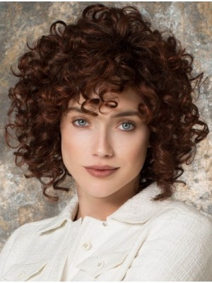 "Trendy 12"" Auburn Curly Lace Front Wigs"
