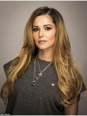 "22"" Blonde Straight Amazing Cheryl Cole Wigs"
