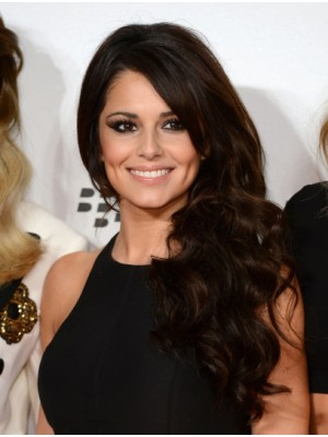 "20"" Brown Curly Cheap Cheryl Cole Wigs"