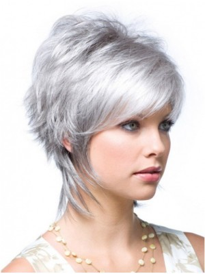 Good Short Wavy Synthetic Monofilament Wigs