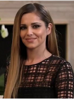 "24"" Brown Straight Hairstyles Cheryl Cole Wigs"