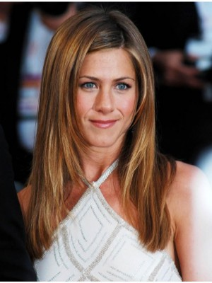 "20"" Without Bangs Lace Front Jennifer Aniston Wigs"