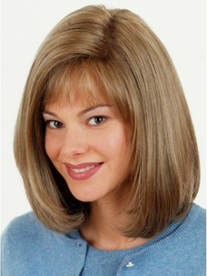 100% Remy Human Hair Full Lace Half Wig