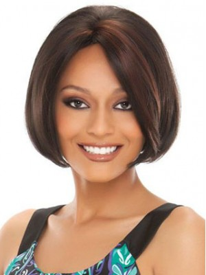 "10"" Straight Synthetic Capless Bob Wig"
