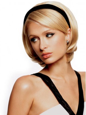 "8"" Straight 3/4 Cap Headband Wig"