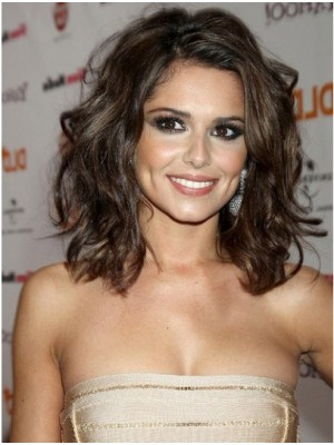 Cheryl Cole Shoulder Length Wavy Synthetic Wigs