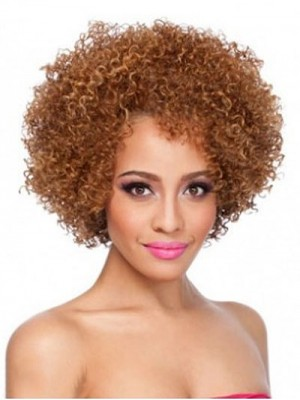 Blonde Curly Synthetic Wig for Black Women