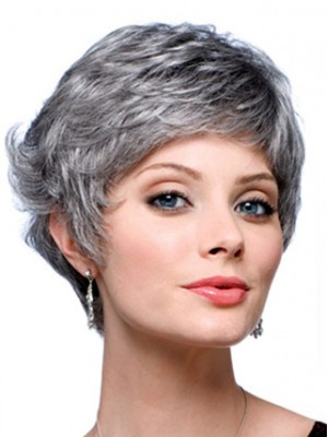 Graduated Back Grey Wig