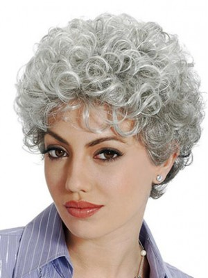 Classic Sstyle With Soft Waves Grey Wig