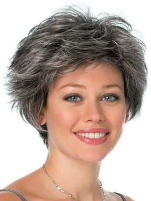 Conservative Look Grey Wig