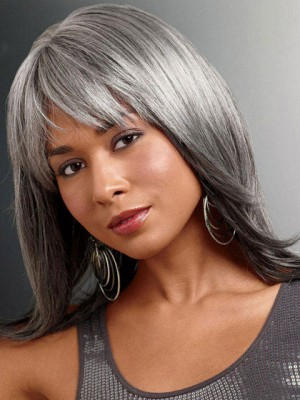 Lace Front Synthetic Foxy Silver Wig