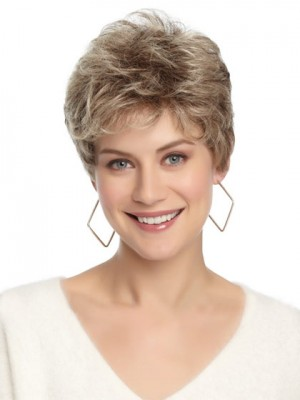 Natural Layering Wavy Short Grey Wig