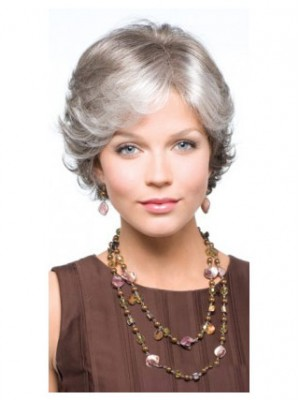 Classical Side Parting Wavy Short Capless Wig