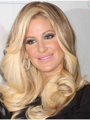 Durable Without Bangs Wavy Kim Zolciak Wigs