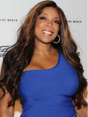 "Lace Front Wendy Williams 24"" Wavy Long Remy Human Hair Wig"