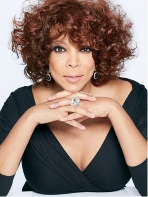 Wendy Williams Auburn Curly Wigs Short With Bangs