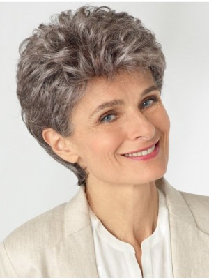 Gorgeous 100% Hand-tied Short Grey Wigs