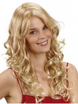 Fashionable Curly With Bangs Synthetic Wigs