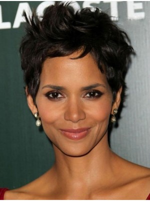 Halle Berry Trendy Pixie Straight Synthetic Wigs