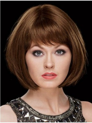 "8"" Bobs Chin Length Straight Synthetic Wigs"