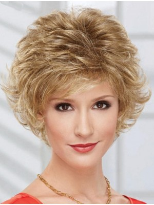 "8"" Layered Chin Length Wavy Discount Synthetic Wigs"