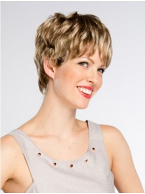 8 Layered Short Wavy Cheapest Synthetic Wigs