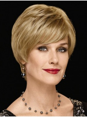 "8"" With Bangs Chin Length Straight Fashion Synthetic Wigs"
