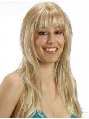 Durable Straight With Bangs Synthetic Wigs