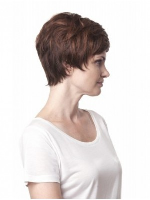 "8"" Short Wavy Modern Synthetic Wigs"