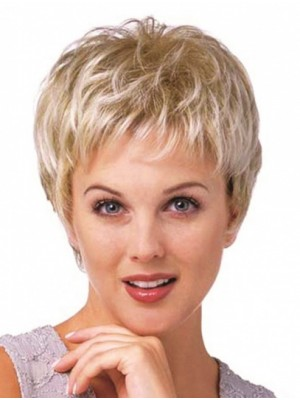 "8"" Cropped Curly Hairstyles Synthetic Wigs"