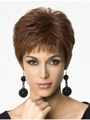 "6"" Cropped Straight New Synthetic Wigs"