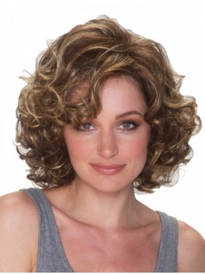 "10"" Chin Length Curly Top Synthetic Wigs"