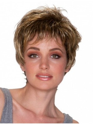 "8"" Short Wavy Soft Synthetic Wigs"