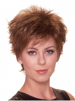 "6"" Cropped Straight Perfect Synthetic Wigs"
