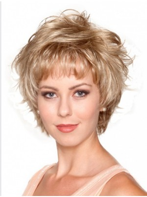 "8"" Short Wavy Stylish Synthetic Wigs"