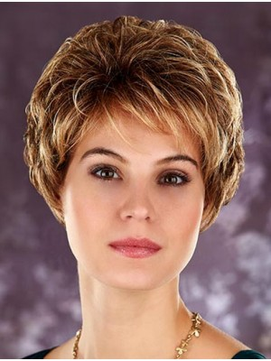 Short Straight Lace Front Synthetic Wig