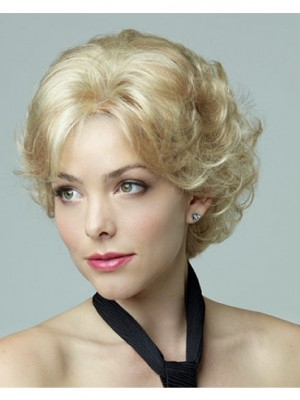Curly Short Blonde Bob Style Synthetic Wig