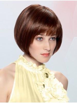Auburn Straight Chin Length Lace Front Great Synthetic Wigs