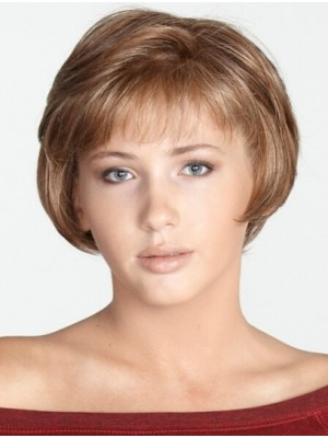 Blonde Trendy Chin Length Synthetic Wigs