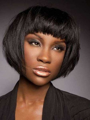 Flattering Straight Capless Synthetic Wig
